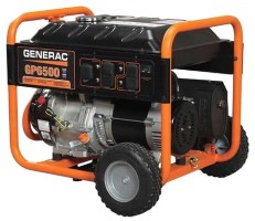 GENERAC 6500 Watt GP Portable Gen. Manual CARB