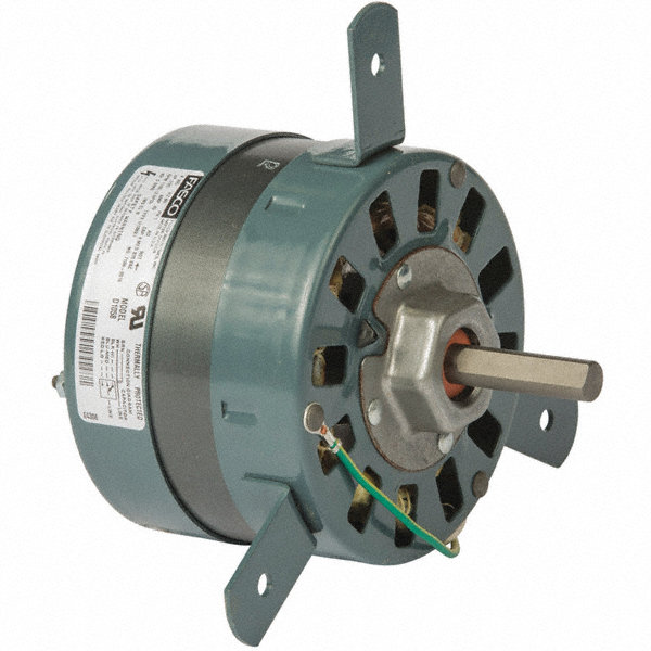 FASCO 1/20 HP Condenser Fan Motor, Permanent Split Capacitor, 1100 Nameplate RPM, 265 VoltageFrame 42
