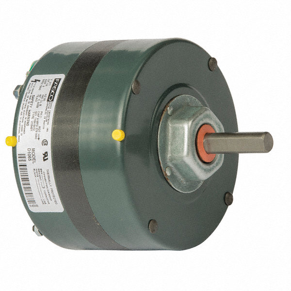 FASCO 1/6 HP Condenser Fan Motor, Permanent Split Capacitor, 1600 Nameplate RPM, 277 VoltageFrame 42