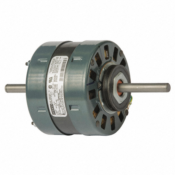 FASCO 1/5 HP Condenser Fan Motor, Permanent Split Capacitor, 1400/1200/1050 Nameplate RPM, 208/230 Voltage