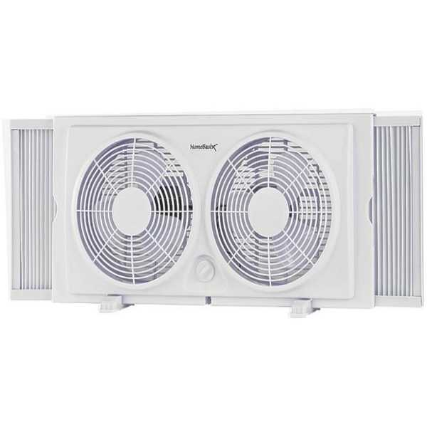 Homebasix F-5280A Twin Window Fan, 7'