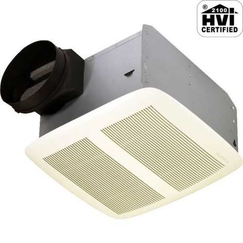NuTone QTXEN150 150 CFM 1.4 Sone Ceiling Mounted Energy Star Rated HVI Certified Bath Fan from the QT Collection
