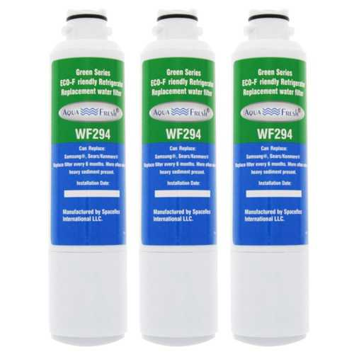 AquaFresh Replacement Water Filter for Samsung RFG296HDBP Refrigerator Model (3 Pack)