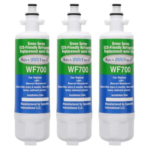 Aqua Fresh Water Filter For Kenmore 74025 Refrigerators - 3 Pack