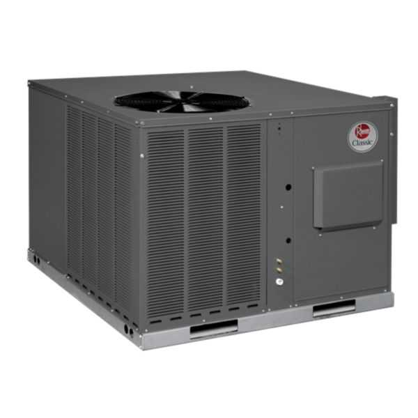 Rheem RGEA14048AJT101AA - Classic 4 Ton 14 SEER Packaged Gas/Electric Unit, 208-230/1/60, X-13, 100K MBH