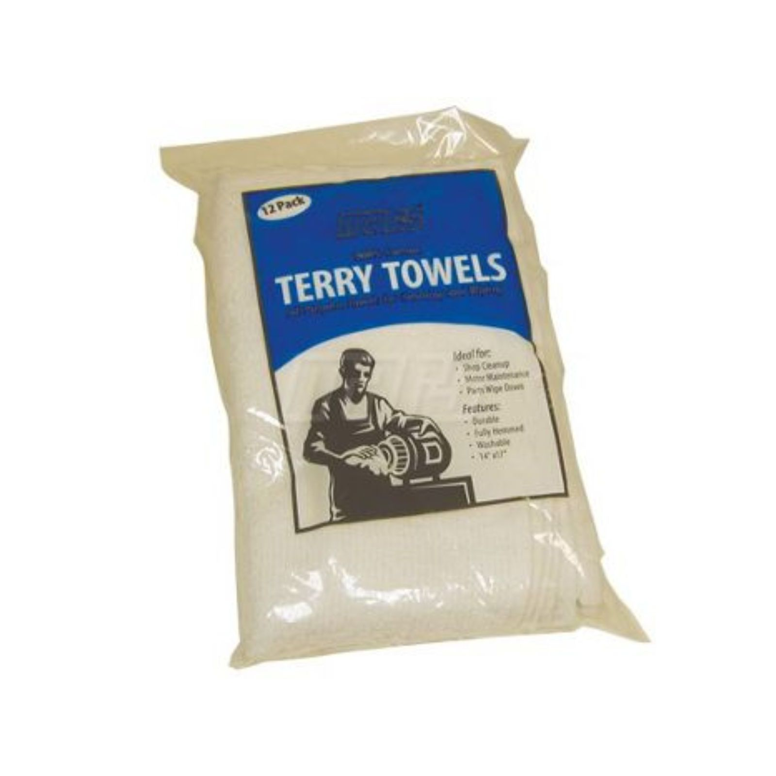 Carnegie Textile 79025 - Terry Towel 12 Pack