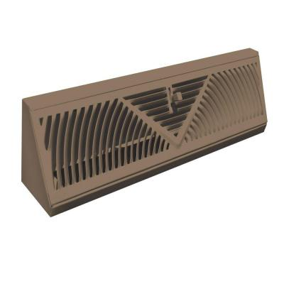 15 in. Steel Brown Baseboard Diffuser Supply