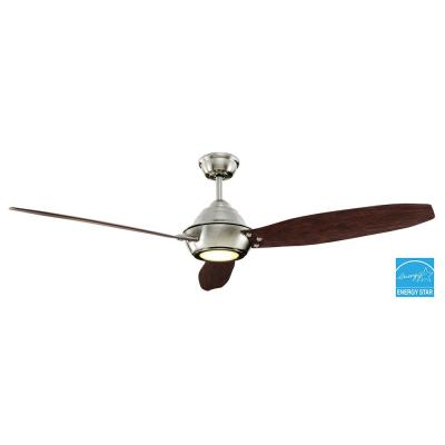 Aero Breeze 60 in. Indoor/Outdoor Brushed Nickel Ceiling Fan
