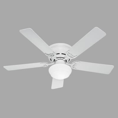 Low Profile III Plus 52 in. White Indoor Ceiling Fan