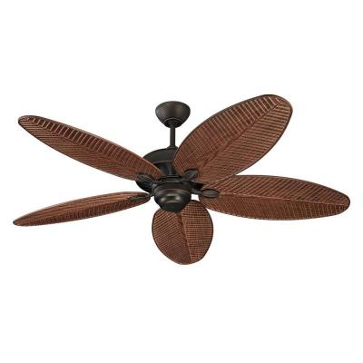 Cruise 52 in. Roman Bronze Ceiling Fan with American Walnut Blades