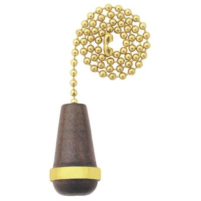 Walnut Wooden Cone Pull Chain