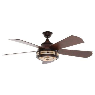 Savona 52 in. Weathered Bronze Ceiling Fan