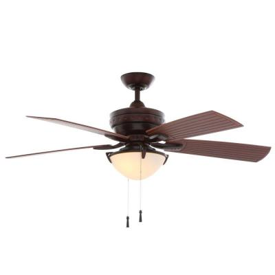 Four Winds 54 in. Indoor/Outdoor Weathered Bronze Ceiling Fan