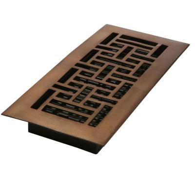 4 in. x 14 in. Oriental Oil-Rubbed Bronze Solid Brass Register