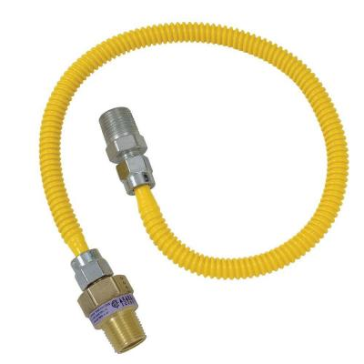 Safety+PLUS 1/2 in. MIP Excess Flow Valve x 3/8 in. MIP x 24 in. Gas Connector 3/8 in. O.D. (40,000 BTU)