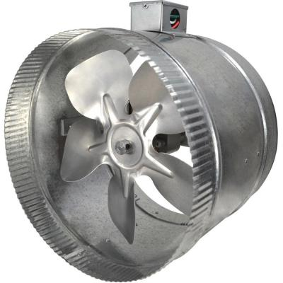 10 in. 2-Speed Inductor Inline Duct Fan with Electrical Box