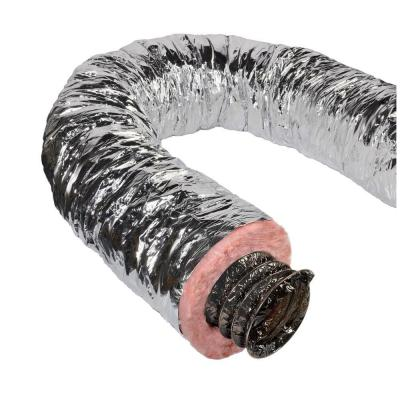7 in. x 25 ft. Insulated Flexible Duct R8 Silver Jacket