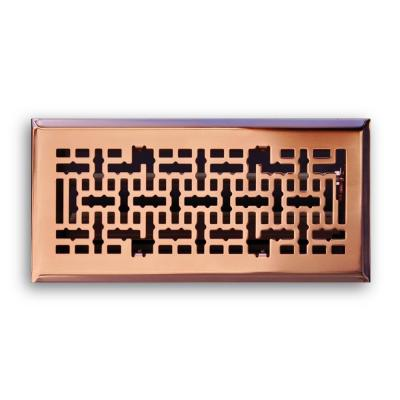 4 in. x 12 in. Modern Contempo Floor Diffuser, Copper