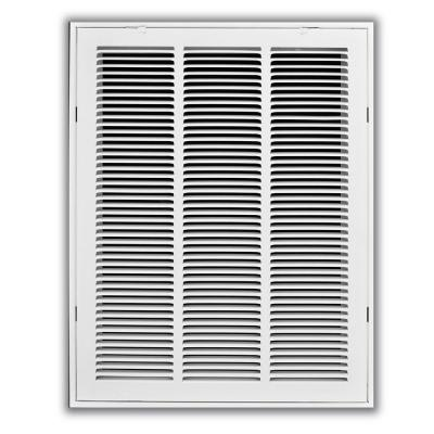 14 in. x 30 in. White Return Air Filter Grille