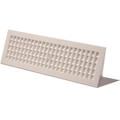 3 in. x 18 in. Plastic Baseboard Register, White
