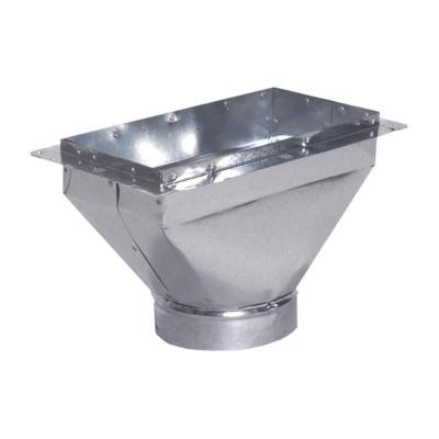 10 in. x 6 in. to 6 in. Universal Register Box with Flange