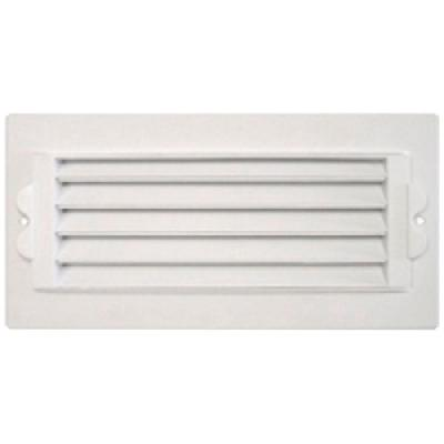 8 in. x 4 in. Plastic 1-Way Ceiling Register, White