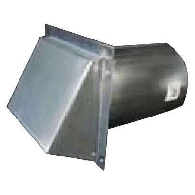 4 in. Round Galvanized Wall Vent with Spring Return Damper