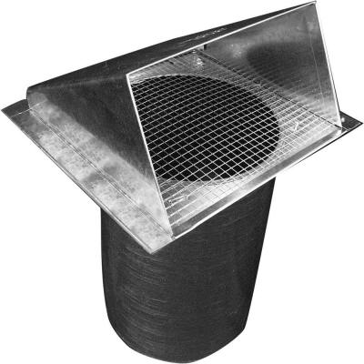 8 in. Dia Galvanized Wall Vent Hood with 1/4 in. Screen