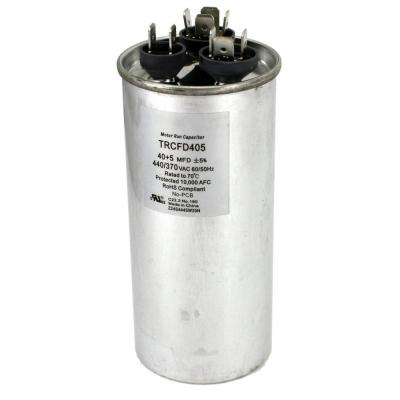 Packard 440-Volt 40/5 MFD Dual Rated Motor Run Round Capacitor