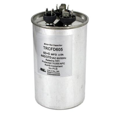 Packard 440-Volt 60/5 MFD Dual Rated Motor Run Round Capacitor