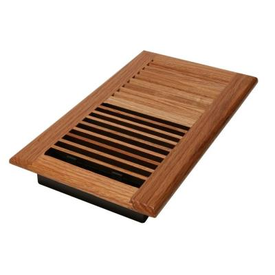 6 in. x 10 in. Red Oak Wall/Ceiling Register with Damper Box
